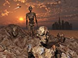 Mark Stevenson/Stocktrek Images – Android fossils preserved in sedimentary rock on an alien world. Photo Print (83,31 x 62,48 cm)