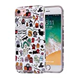 ZQ-Link Coque iPhone 6 Plus/6s Plus Motif Premium Feuille TPU Souple Etui Protection...