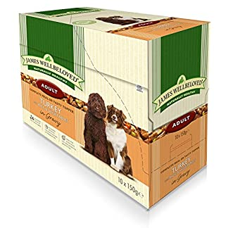 40 x 150g James Wellbeloved Adult Turkey and Rice Pouches Multibuy 4