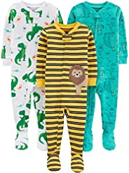 Simple Joys by Carter's 3-Pack Snug Fit Footed Cotton Pajamas Bimbo 0-24, Pacco