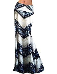 Mujer Maxi Falda Elástica Tallas Grandes Faldas De Fiesta Largas Como la imagen S