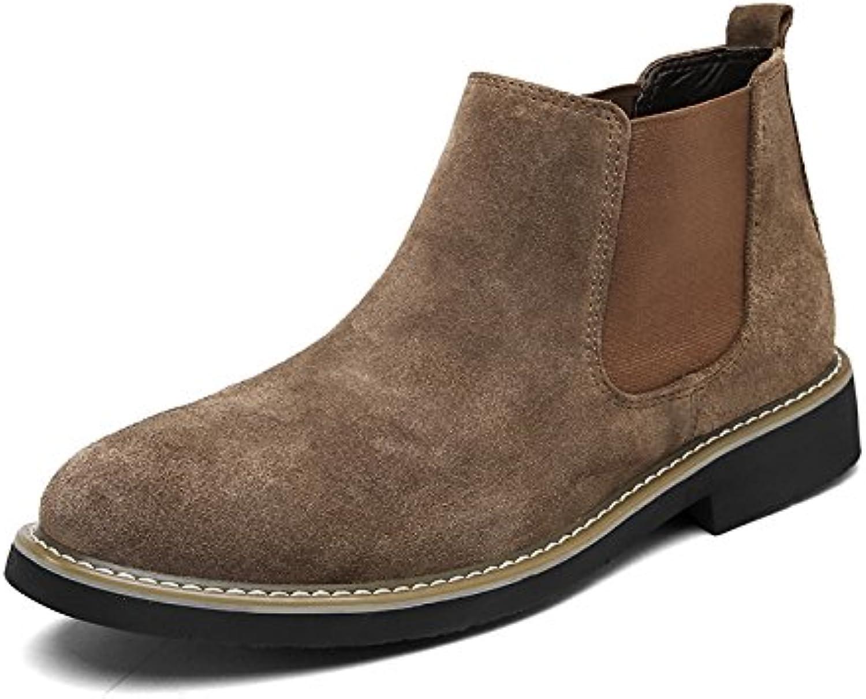 lixus Männer  casual mode stiefel  hohe stiefel  martin winter bangnan retro  chelsea  stiefel brown 39