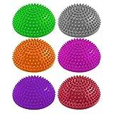 6er-Set Balance-Kugel »Igel« zur Steigerung der Balance / Koordination. Ideal für Balance-Training 320g zirka 8cm hoch und 16cm Durchmesser in rot, magenta, grau, orange, pink & purple