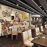 Wmbz Custom 3D Fototapete Bier Dynamische Mode Schönheit Benutzerdefinierte Wandbilder Entertainment Bar Dekoration Hintergrund Tapete-350X250Cm