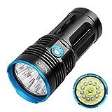 NIXKO Wasserdichte taktische Taschenlampe 12x Cree XML T6 LED 12000 Lumen 3-Modus-Taschenlampe für Wandern, Camping, Jagd und andere Aktivitäten im Innen- oder Außenbereich
