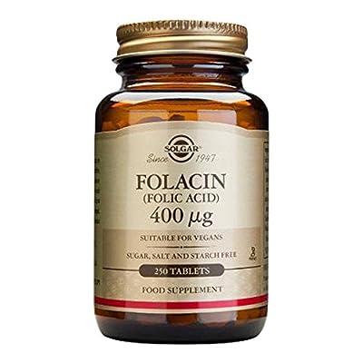 Folic Acid, 400 mcg, 250 Tablets - Solgar - UK Seller from Solgar