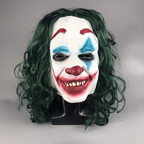XIAO RUI Batman Clown Maske Halloween Horror Ball Rollenspiele Dark Knight Film Latex Maske, Adult,A (Halloween-kostüme 2019 Best Adult)