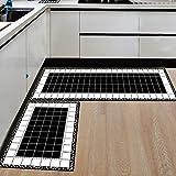 Multi Farbige Moderne Waschbar Rutschfeste Küche Utility Hall Lange Läufer Tür Matte Teppich, 50 * 80 + 50 * 160, H