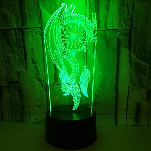 Huizheng Feather Wind Chime 3D Nachtlicht Acryl Business Geschenk Tischlampe Plug-in Led -