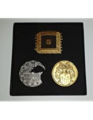 GPS Geocaching Geocoin Set - Hannover LE Gold