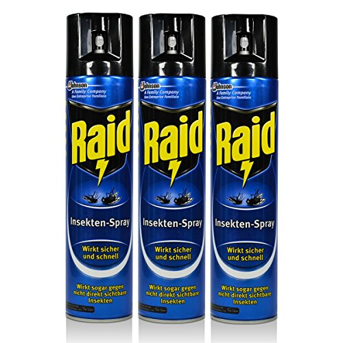 3x Raid Insekten-Spray 400 ml - Wirkt sicher und schnell