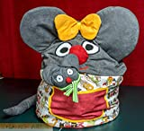 Kindersitzsack Maus mit Kuscheltier oder Schmusetier für die Kleinen