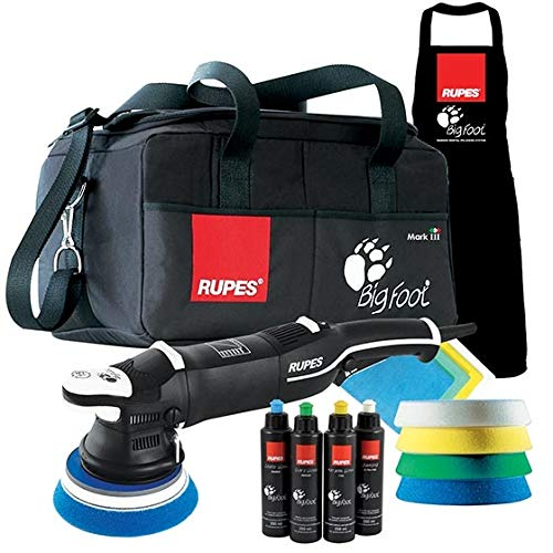 RUPES Set LHR15 Mark III Bigfoot Exzenter Poliermaschine 15 mm Hub & Polierpads