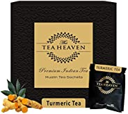 The Tea Heaven- Immunity Booster- Turmeric Herbal Tea (Wellness Tea) - 100 % Organic Ingredients- 18 Tea Bags(