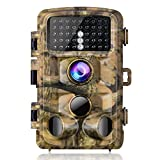 "Campark Trail Game Camera, 14MP 1080P Waterproof Hunting Scouting Cam for Wildlife Monitoring with 120° Detecting Range Night Vision 2.4"" LCD IR LEDs"