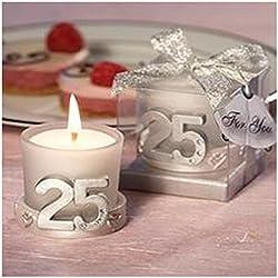 Vela 25º Aniversario Bodas - Bodas de Plata