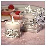 Vela 25º Aniversario Bodas - Detalles Bodas de Plata