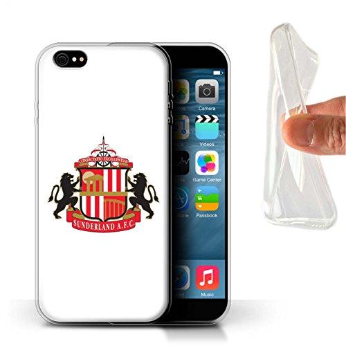 Offiziell Sunderland AFC Hülle / Gel TPU Case für Apple iPhone 6+/Plus 5.5 / Pack 6pcs Muster / SAFC Fußball Crest Kollektion Weiß