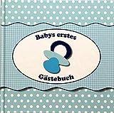 Babys erstes Gästebuch ideal als Geschenk zur Geburt / Taufe / Babyparty in Blau für Jungen