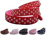 Lushpetz Designer Hundehalsband In Shwarz, Rot, Braun, Pink oder Weiß.Wasserdicht und wasserfest-Xs, klein, mittlere Größen (XS, Rot)