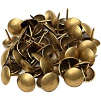 Sharplace 400 Piezas De Uñas De Tapicería De Cobre Antiguo Chinchetas / Tachuelas / Alfileres 10x10 Mm