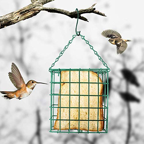 SunniY Vogelfutterautomat Wildvögel Käfig Für Käfig Grünes Quadrat 13,5 X 12,6 X 5 cm Geeignet Für Die Gartendekoration Im Freien Fütterung Vögel Viewing Station