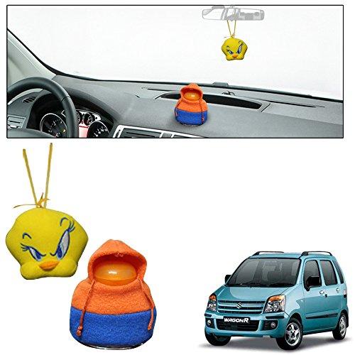 Vheelocityin Hanging Tweety and Dashboard Doll Car Perfume Air Freshener Combo Maruti Suzuki Wagon R 1.0 Old