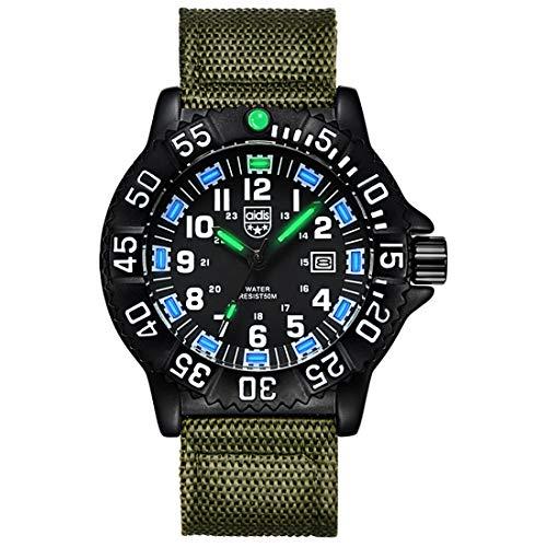 XYhjd Multifunktionale Outdoor-Uhr 50 Meter Wasserdichte Sportuhr leuchtende Herren-Militäruhr,B4