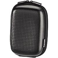 Hama Kameratasche – stabiles Hard Case im Carbon-Stil – ideal als kleine Fototasche und zur Kamera Aufbewahrung – Farbe: Schwarz