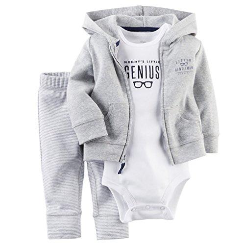 CHENGYANG 3 Pezzi Bambino Ragazzo Vestito Abbigliamento Giacca & Romper Top & Pantaloni Pagliaccetto impostato (Abbigliamento bambino)