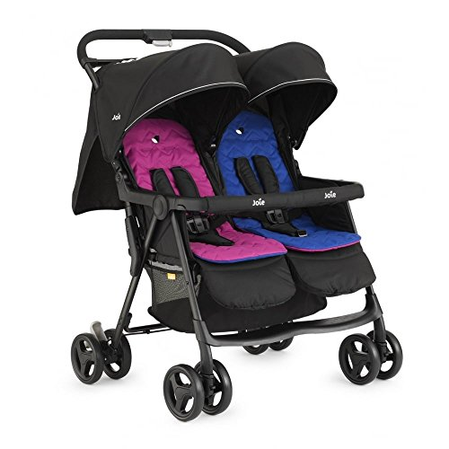 joie-aire-twin-stroller-pink-blue