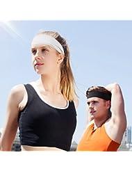 Cinta para la Cabeza Headbands Banda de cabeza unisex de Omorc, 2 pcs Headbands Deportivos para el Ciclismo Bici Motolista Correr y Yoga Actividades al aire libre