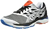Asics Men's Gel-Cumulus 18 Training Shoes, Multicolor (White/Silver/Black), 8 UK