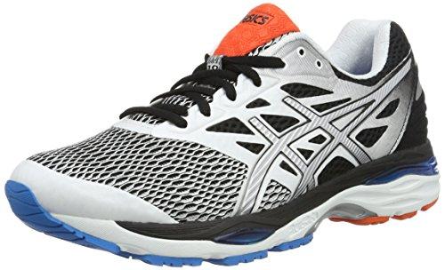 Asics Gel-Cumulus 18, Zapatillas de Running para Hombre, Blanco (White/Silver/Black), 46 EU