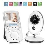 """Baby-Monitor, 2.4 """"Video-Baby-Monitor mit Nachtsicht, Zwei-Wege-Gespräch, Temperaturüberwachung & Eingebaute Lullabies-Upgraded (2,4Zoll)"""