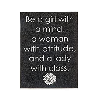 Icing Girls and Womens Woman With Attitude Glitter Wall Canvas in Black