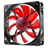 NOX NXCFAN120LR - Ventilador para caja de ordenador, 120 x 120 mm, color rojo
