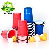MOZOOSON Copas de Plastico, 100 Vasos Desechables de 16oz Beer Pong - Vaso para...