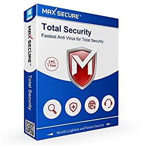 Max Secure Software Total Security Platinum Version 6 - 3 PCs, 1 Year (Email Delivery in 2 Hours - No CD)
