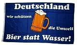 Flagge Deutschland: Bier statt Wasser