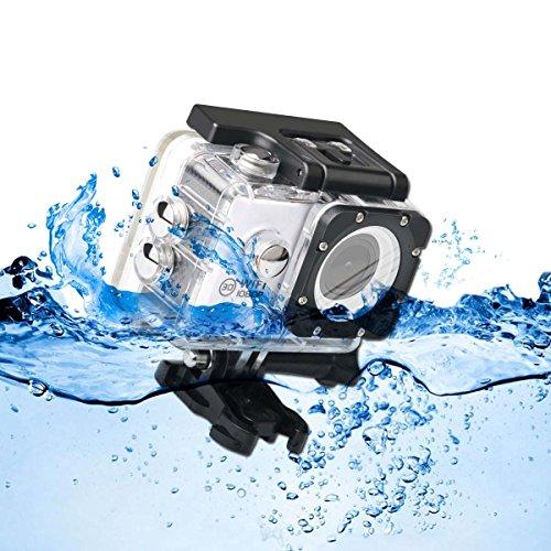 Liveliness Video Kamera, Show off Kamera Unterwasser zu 30 m 1080p 12 MP Zaftig HD 170 ° Weitwinkel Objektiv 5,1 cm Vaunt 900 mAh Rechargeble Akku + Befestigung Zubehör-Kits für Bike Motorrad Surfen Tauchen Schwimmen Skifahren