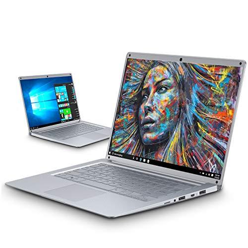 Intel Celeron J3455 - Ordenador Portatil Ultrabook 14.1''IPS/HD(Notebook Intel Core i7, 6GB RAM, 128GB SSD, Windows 10, Intel HD Graphics 500(Plata)