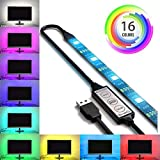 SPE Bias Lighting for HDTV 78-inch 60 LED Multi-Color RGB - USB LED Backlight Strip with Dimmer for Flat Screen TV LCD Desktop Monitors Multi-Color