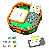 TKSTAR Mini Rastreador GPS Portátil, Mascotas Vehículos para Gatos de Perros Niños Ancianos Mini...