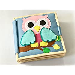 cubs and calves Ullu- The Pink Owlet 8 Page Quiet Book (Multicolour)