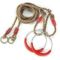Hi-Sun Anillos de Metal para niños con Cuerda Ajustable para niños Pull-ups Escalada Juegos de Interior/Exterior