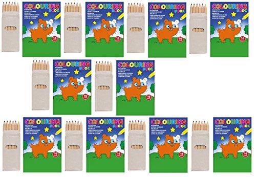 sin4sey 10er Buntstifte - Malbuch Set Klein Mitgebsel Hochzeit Restaurant Kinderparty Kinder (Grau)