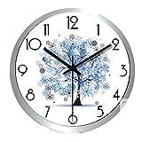 orologio da parete In acciaio inox parete salotto, white
