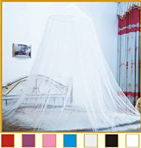 Octorose ® Round Hoop Bed Canopy Netting Mosquito Net Fit Crib, Twin, Full, Queen, King (Buttercream) by OctoRose