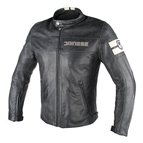 Dainese- hf d1 giacca da moto in pelle, nero/ice, taglia 50